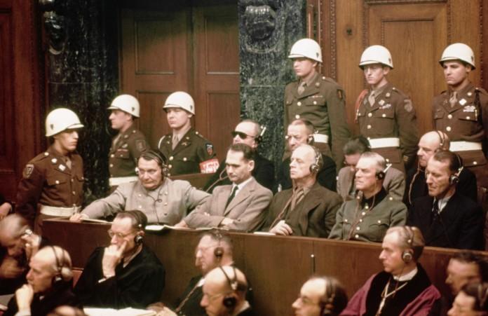 Defendants At Nuremberg Trials